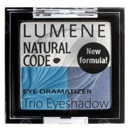 Lumene Natural Code Eye Dramatizer Trio Eyeshadow, potrójne cienie do oczu 3 Denim 4,3g