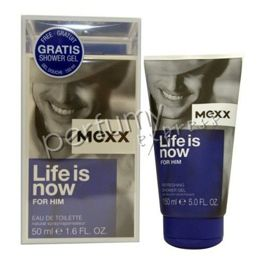 Mexx Life is Now for Him komplet (50 ml EDT & 150 ml SG)