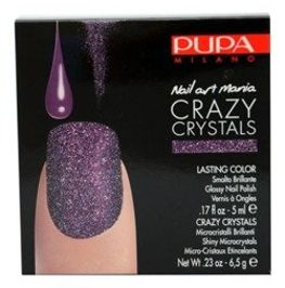 Pupa Nail Art Mania Crazy Crystals zestaw do manicure 010 Urban Purple