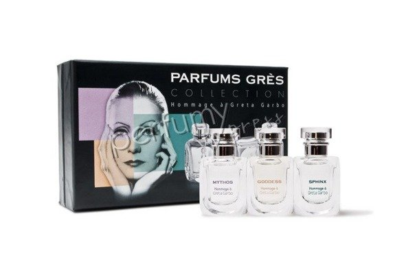 Gres Greta Garbo zestaw miniatur 3x5ml EDP (Mythos & Goddess & Sphinx)