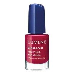 Lumene Gloss&Care Nail Polish, lakier do paznokci 17 Lot's of Berries, 5 ml