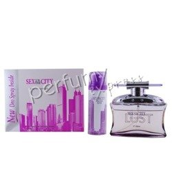 Sex in the City Lust – Pożądanie, Pink komplet (100 ml EDP & 50 ml DEO)
