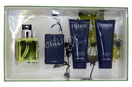 Calvin Klein Eternity for Men komplet (100 ml EDT & 20 ml EDT & 100 ml AS Balm & 100 ml SG)