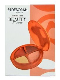 Deborah Beauty Flower kasetka do makijażu Orange 4 g