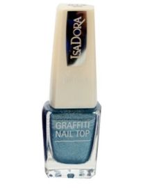 IsaDora Graffiti Nail Top 812 Silver Flicks 6ml
