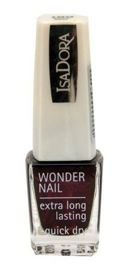 IsaDora Wonder Nail supertrwały lakier do paznokci 189 Black Rose 6 ml