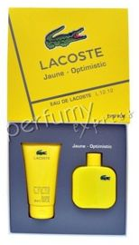Lacoste L.12.12 Yellow Jaune Optymistic komplet (100 ml EDT &150 ml SG)
