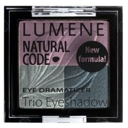 Lumene Natural Code Eye Dramatizer Trio Eyeshadow, potrójne cienie do oczu 6 Smoky 4,3g