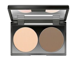 Make up Factory Duo Contouring Powder paleta do konturowania twarzy w pudrze 07 Light Coffee 2 x 3 g