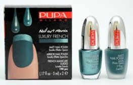 Pupa Nail Art Mania Luxury French zestaw do manicure 003 Matt Green & Mirror Emerald 2 x 5 ml