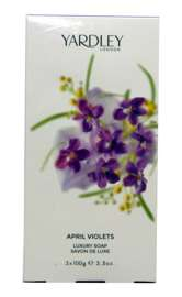 Yardley London April Violets zestaw mydeł 3x100g edycja 2015
