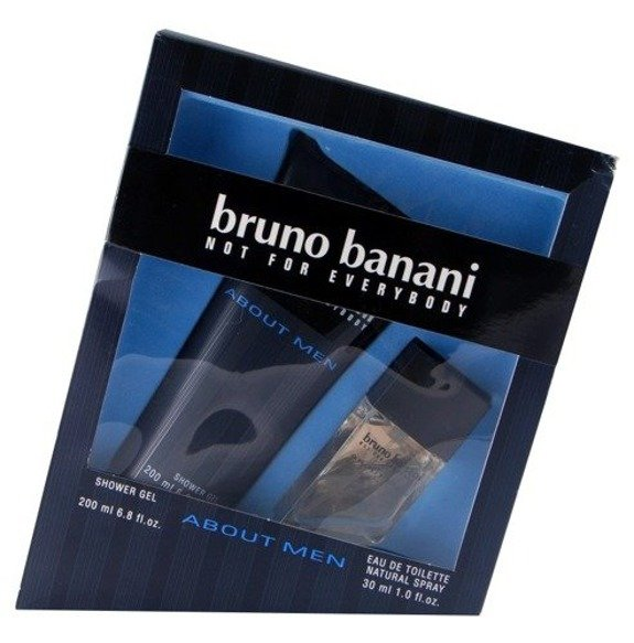 Bruno Banani About  Men komplet (30 ml EDT & 200 ml SG) - PRZECENA!