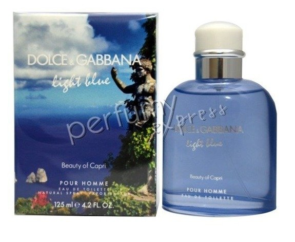 Dolce & Gabbana Light Blue pour Homme Beauty of Capri woda toaletowa 125 ml